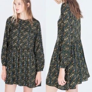 Zara Paisley Print Oversized Boho Dress